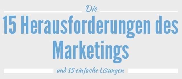 15 Herausforderungen des Marketings