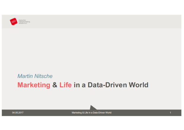 Marketing & Life in a Data-Driven World