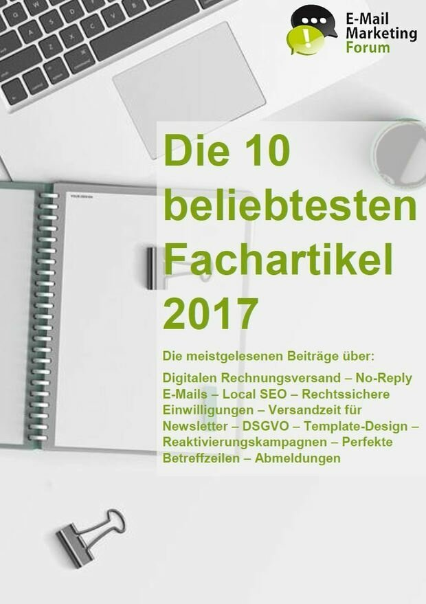 Die Top 10 Fachartikel 2017