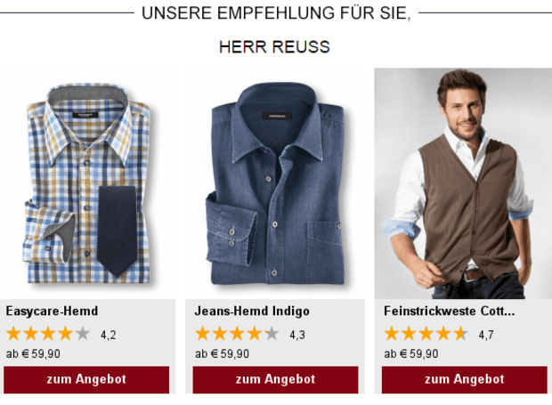 super quality best selling cheapest price Walbusch mit mehr Klicks & Konversion durch Recommendations