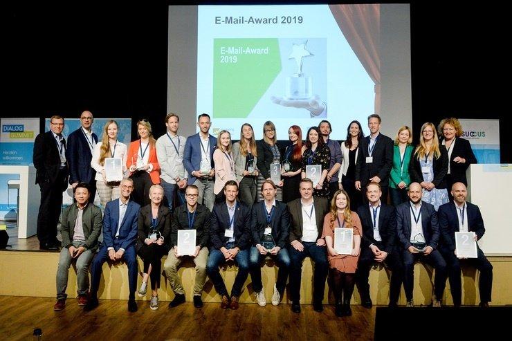 Die Preisträger des E-Mail-Award 2019 © Succus | Wirtschaftsforen